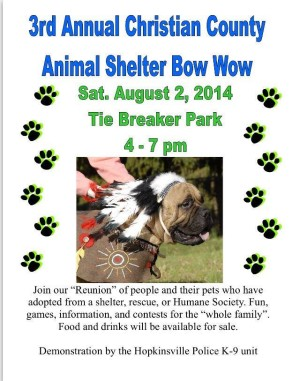 3rd Annual Christian County Animal Shelter Bow Wow @ Tie Breaker Park | Hopkinsville | Kentucky | United States