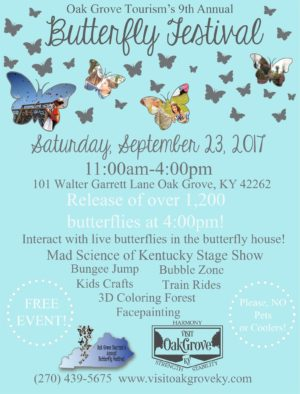 State of Kentucky, the Oak Grove Butterfly Festival @ Oak Grove Tourism Center | Oak Grove | Kentucky | United States