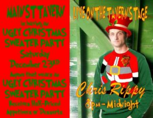 Ugly Christmas Sweater Party and Chris Rippy On the Tavern Stage @ 8th Street Cafe & Main Street Tavern & The Keach  | Hopkinsville | Kentucky | United States