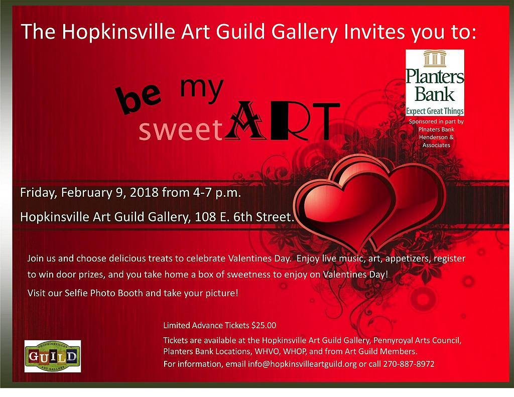 Be My SweetART @ The Hopkinsville Art Guild Gallery | Hopkinsville | Kentucky | United States