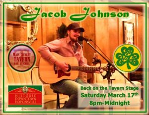 Jacob Johnson Live on St. Patrick's Day @ 8th Street Cafe, Main Street Tavern & The Keach  | Hopkinsville | Kentucky | United States