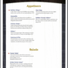 Bourbons's Bar & Grill Menu 1