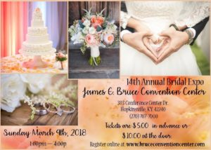 14th Annual Bridal Expo @ James E. Bruce Convention Center | Hopkinsville | Kentucky | United States