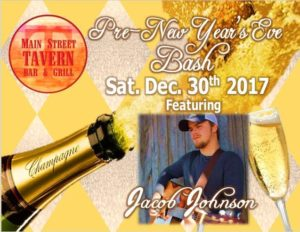 Pre-New Year's Eve Bash featuring Jacob B. Johnson @ 8th Street Cafe & Main Street Tavern & The Keach | Hopkinsville | Kentucky | United States