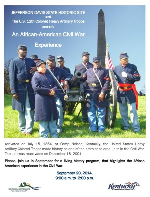 An African-American Civil War Experience @ Jefferson Davis State Historic Site | Pembroke | Kentucky | United States