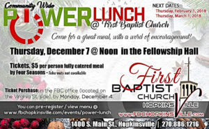Power Lunch @ First Baptist Church  | Hopkinsville | Kentucky | United States