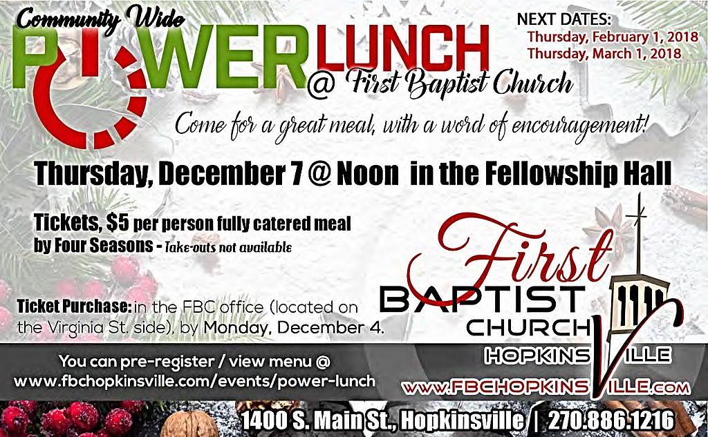 Power Lunch @ First Baptist Church  | Hopkinsville | Kentucky | United States
