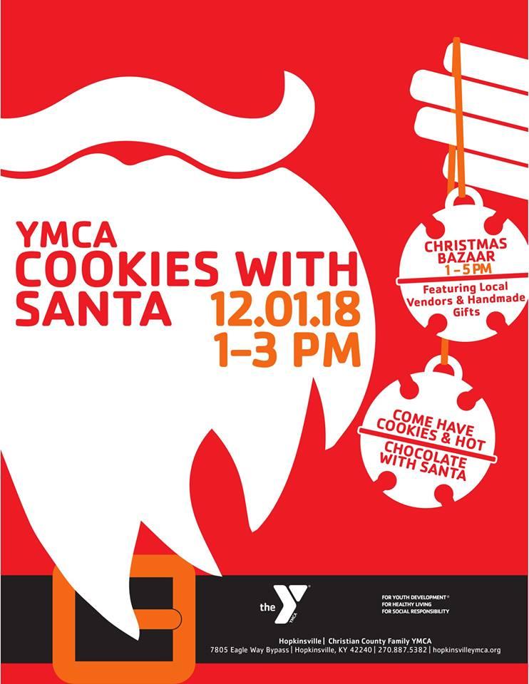 Hopkinsville Ymca Cookies With Santa And Christmas Bazaar