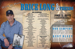Back2Back Foundation - Brice Long & Friends Benefit Concert @ Bruce Convention Center | Hopkinsville | Kentucky | United States