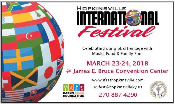 Hopkinsville International Festival 2018 @ James E. Bruce Convention Center    Hopkinsville   Kentucky   United States