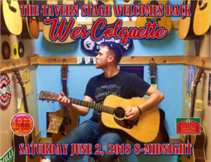 The Tavern Stage Welcomes Back Wes Colquette @ 8th Street Cafe, Main Street Tavern & the Keach | Hopkinsville | Kentucky | United States