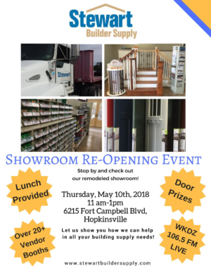 Stewart Builder Supply Showroom Re-Opening Event @ Hopkinsville | Kentucky | United States