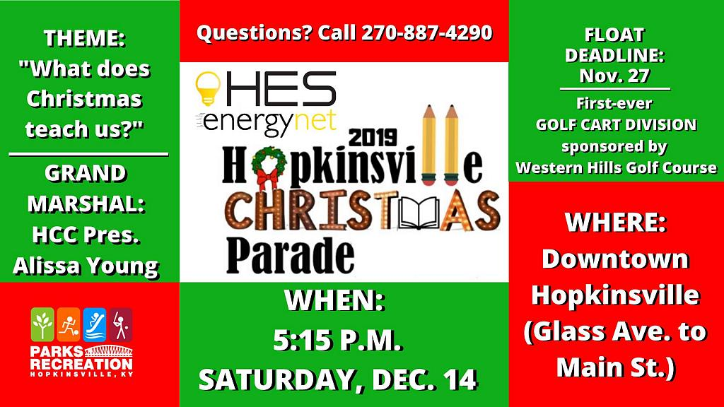 Hopkinsville Christmas Parade 2020 Route HES EnergyHopkinsville Night Christmas Parade