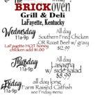 The Brick Oven Grill & Deli Menu 1